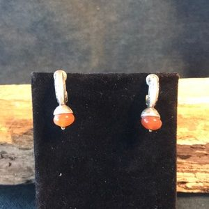 Sterling Silver & Carnelian Earrings
